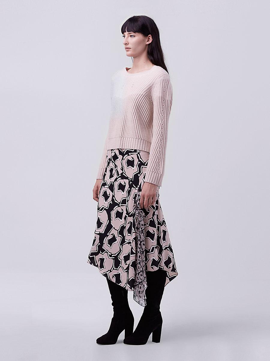 DVF Posey Asymmetrical Skirt in Pommeau Petite by DVF