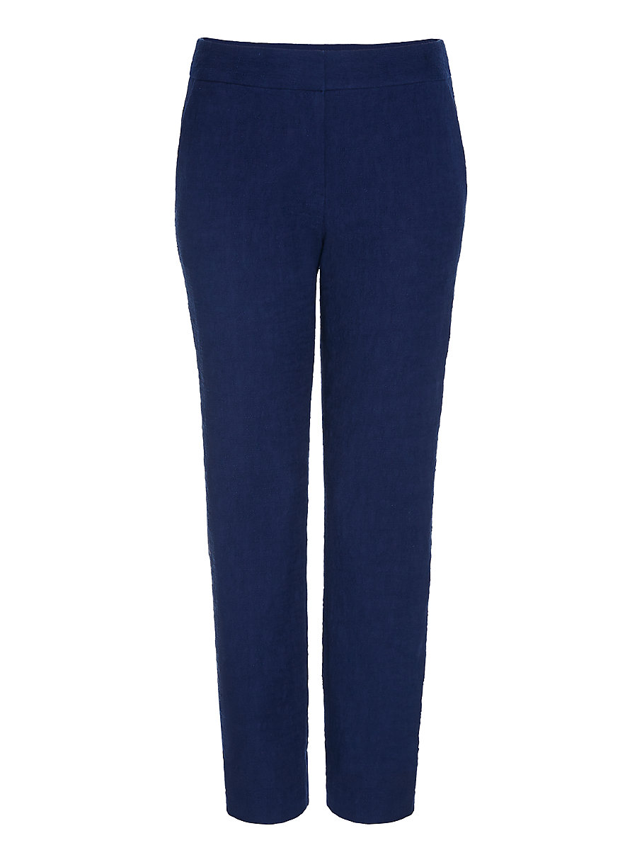 DVF Gennifer Two Cotton Slub Cropped Trousers in Midnight by DVF