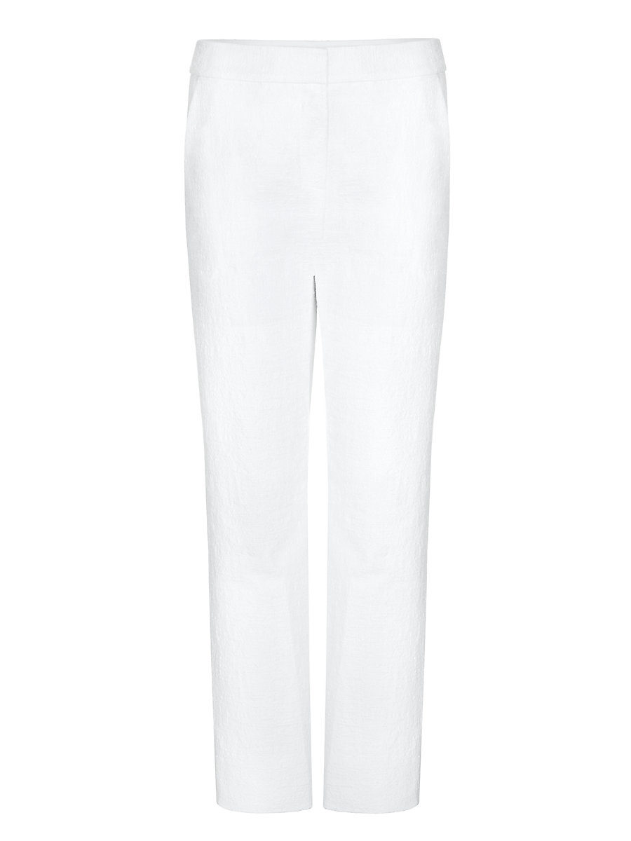 DVF Genesis Cropped Trousers in White by DVF