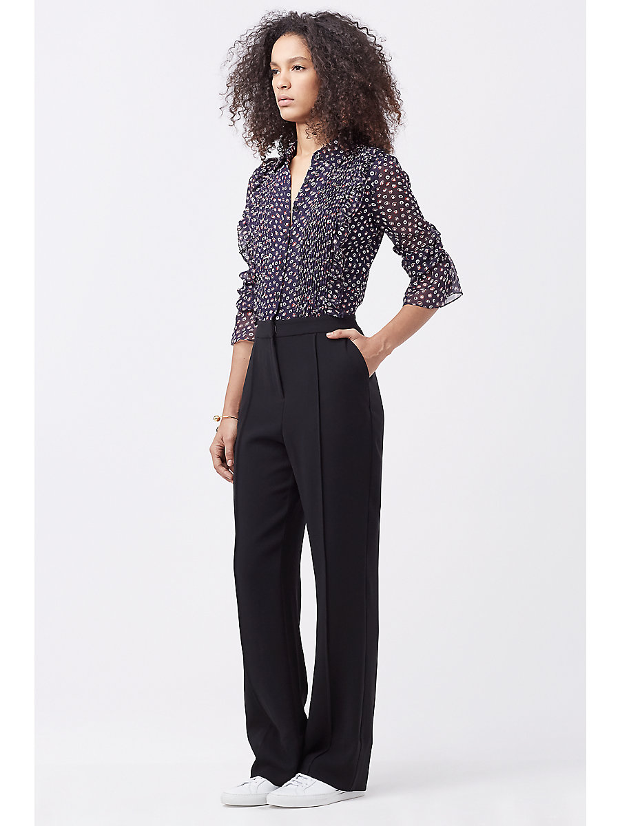 DVF ARIELLA JUMPSUIT in Pirouette Dot Navy/black by DVF