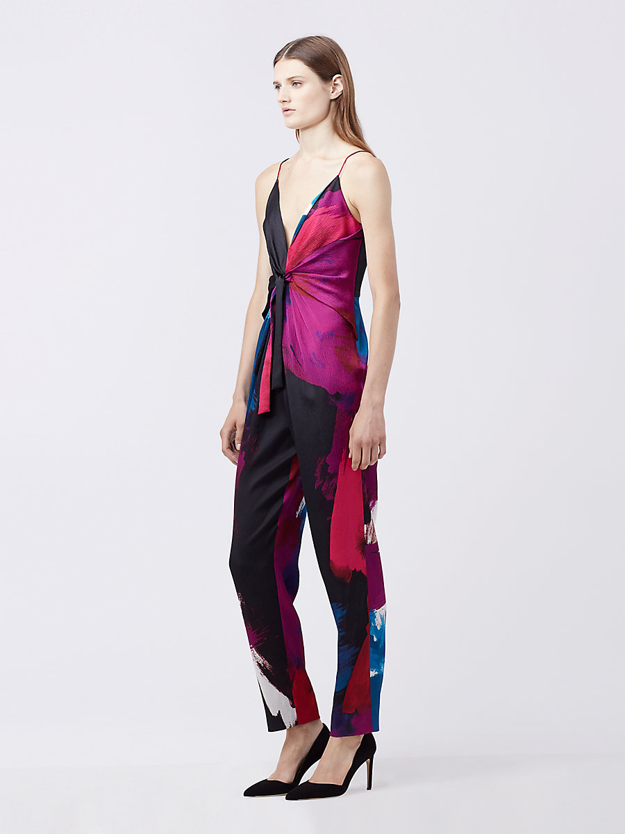 DVF RYLEN JUMPSUIT in Virtuoso Amethyst by DVF