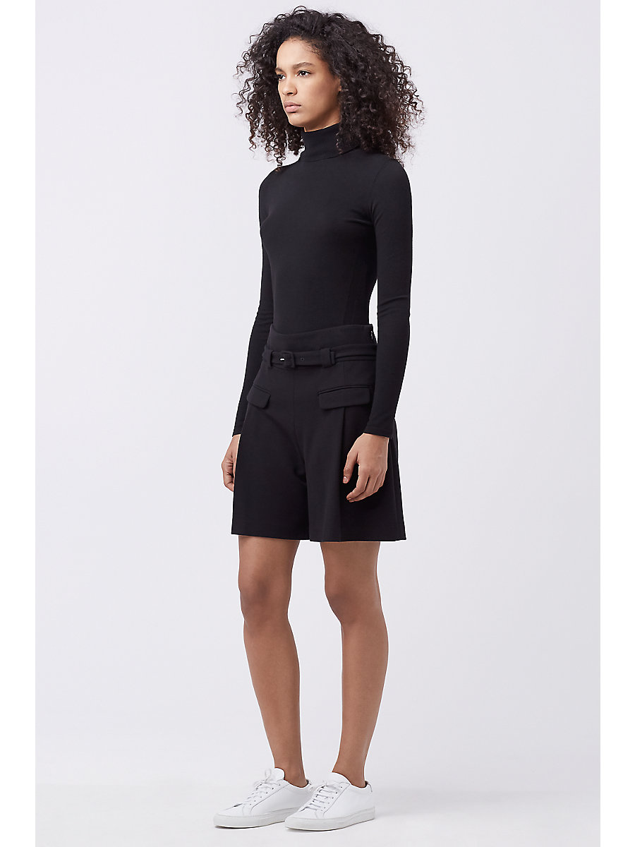 DVF CHAPMAN SHORT in Black by DVF