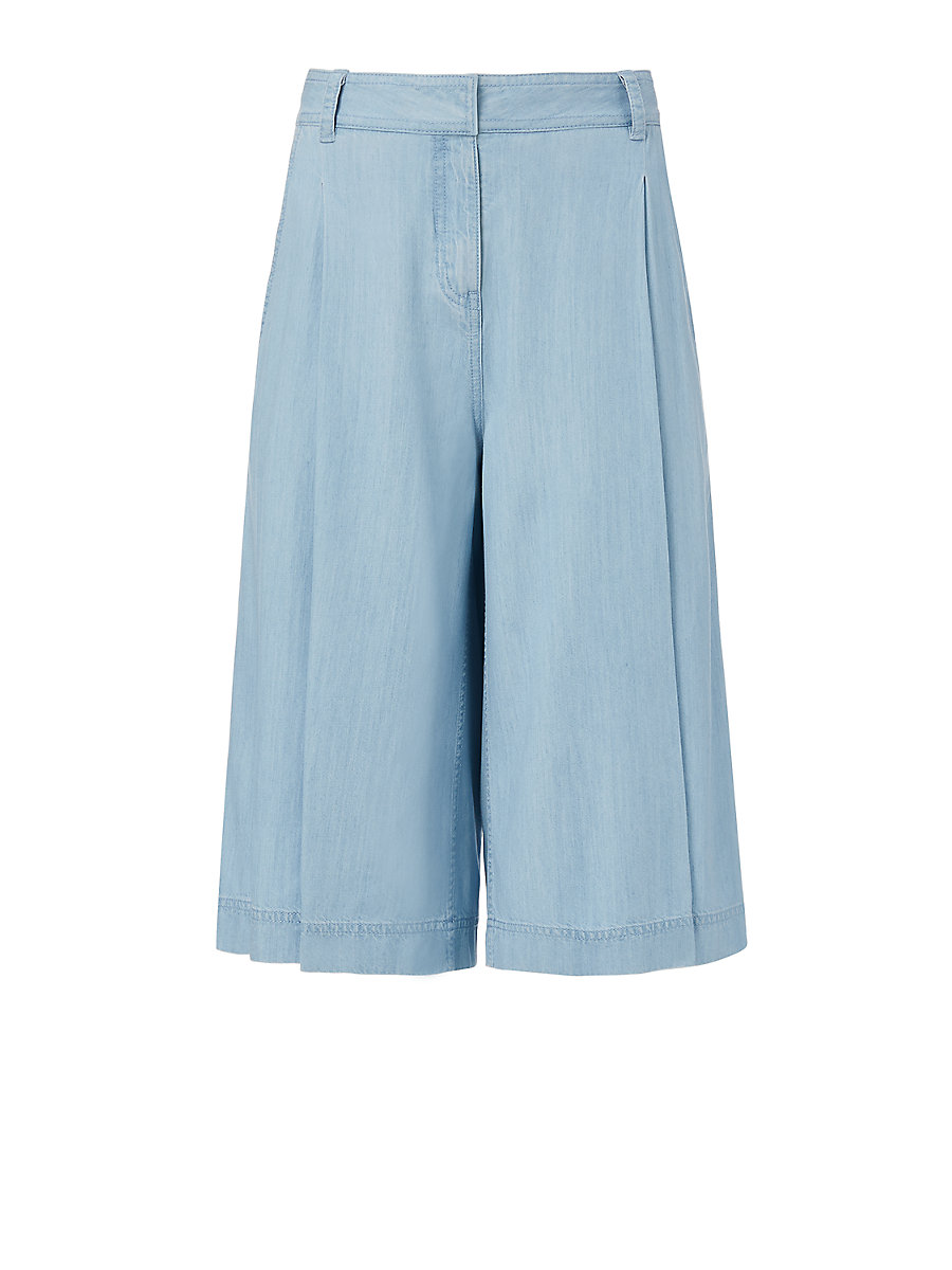 DVF Asheton Denim Culotte in Light Indigo by DVF