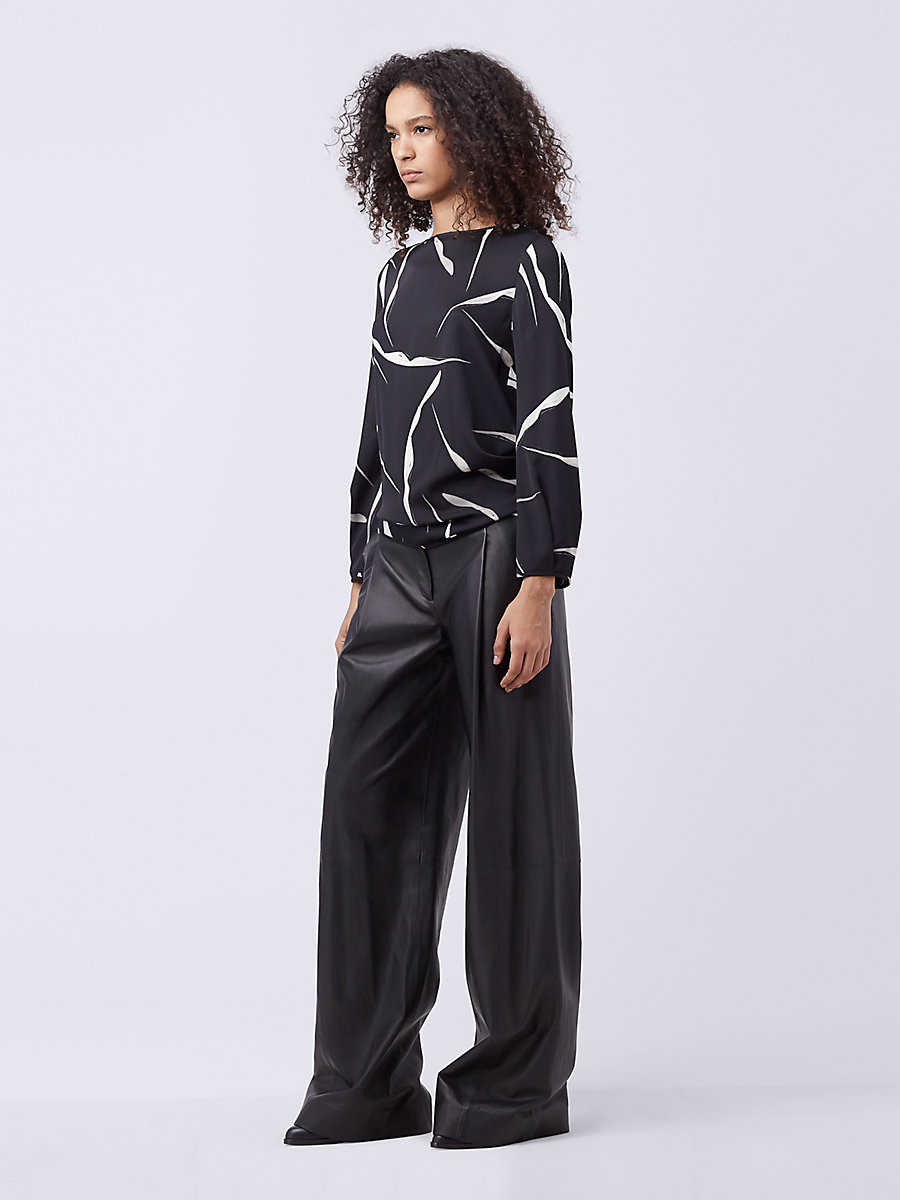DVF Evvy Wrap Top in Gesture Black by DVF
