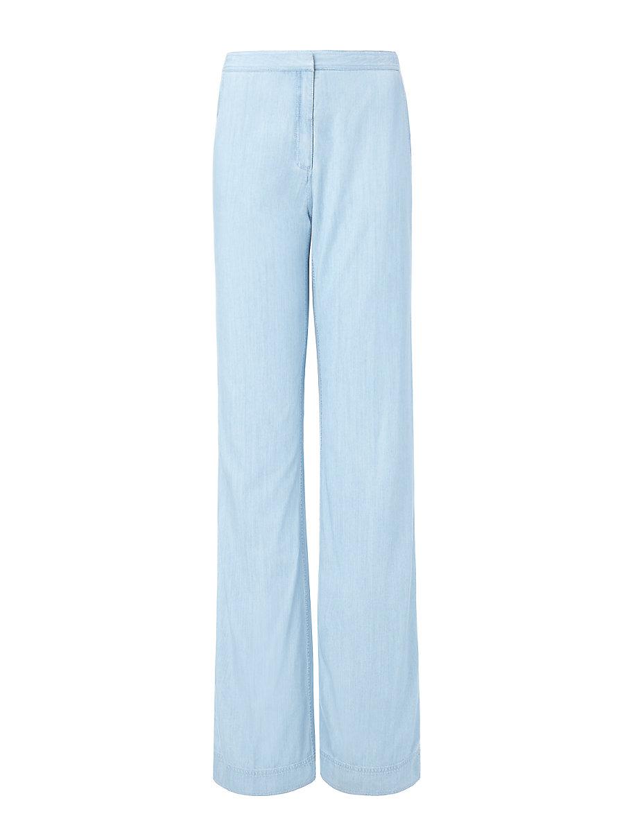 DVF Katara Wide Leg Denim Trouser in Light Indigo by DVF