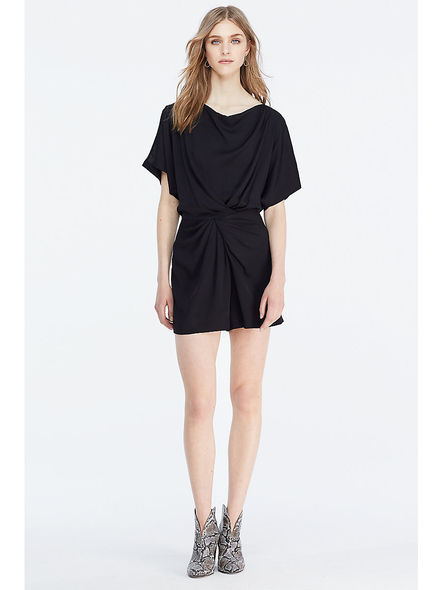 DVF Maxinne Twist Front Romper in Black by DVF