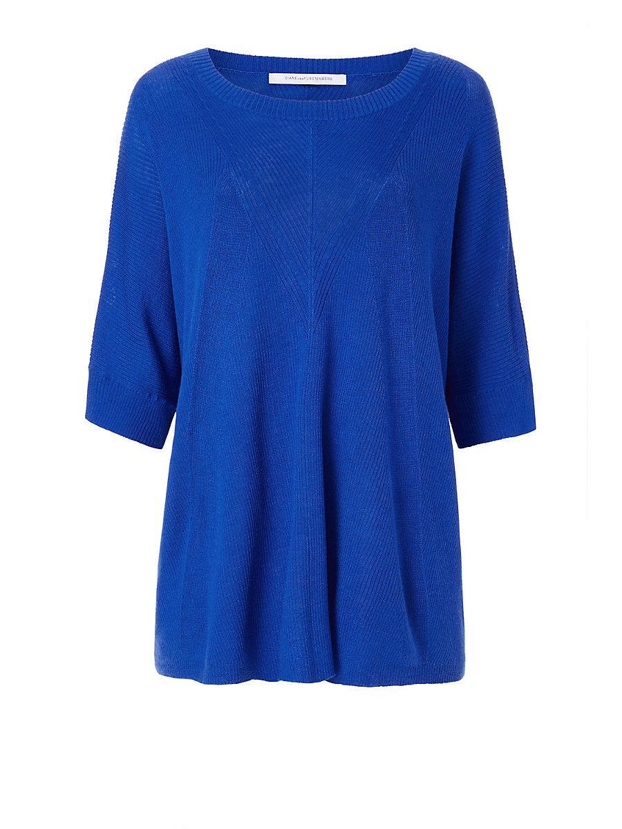 DVF Alycia Sweater in Blue Riviera by DVF