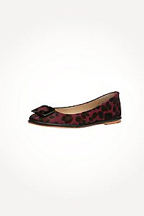 in Aubergine/black Cheetah Print Pony Haircalf