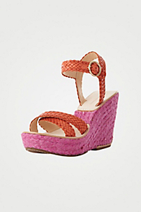 in Peach Nectar Soft Vacc W/fuschia Jute