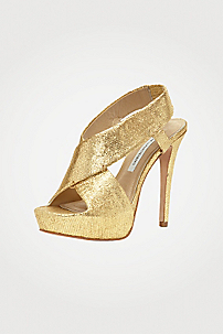 in Gold Metallic Leather