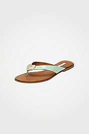 Kyra Patent Leather Thong Sandal