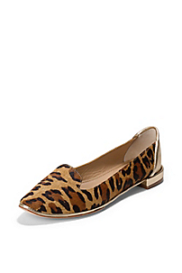 in Camel Leopard Haircalf Print Platino Metallic Napp