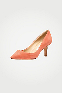 in Peach Nectar Suede