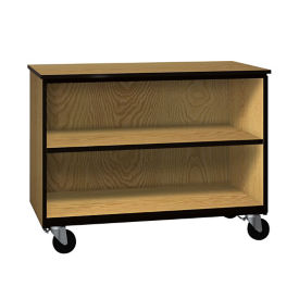 "Two Shelf Mobile Low Open Storage Cabinet - 36""H, B30627"