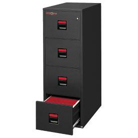 "Four Drawer Letter Size Vertical Fireproof File - 31""D, L40051"