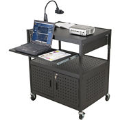 AV Cart with Retractable Shelf, B30396