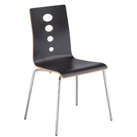 Laminate Cutout Back Stack Chair, C60231