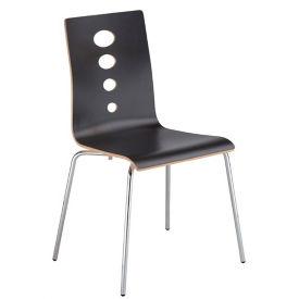 Laminate Cutout Back Stack Chair, C60231