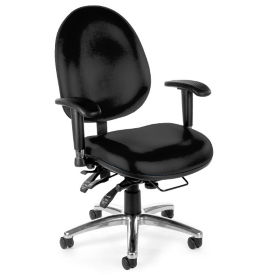Vinyl Heavy-Duty Big & Tall 24 Hour Ergonomic Chair, C80321S