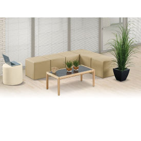 Faux Leather L and Circle Modular Bench Set, W60937