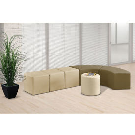 Faux Leather J-Shape Modular Bench Set, W60939