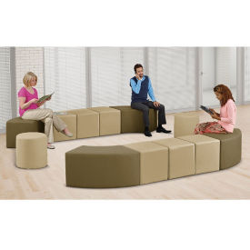 Faux Leather Double Arch Modular Bench Set, W60940