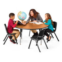 "Round Table with Four Chairs - 48""Dia, A11291"