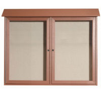 "2 Hinged Door Outdoor Message Center 36"" x 45"", B23213"