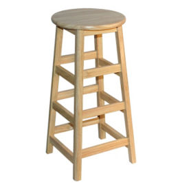 "Solid Hardwood Stool  - 30""H, K00036"