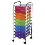 Multicolor Mobile Storage Cart 10 Drawer, B34267