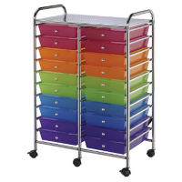 Multicolor Mobile Storage Cart - 20 Drawer, B34269