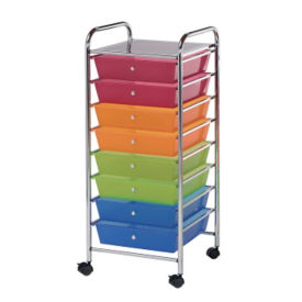 Multicolor Mobile Storage Cart 8 Drawer, B34273