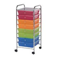 Multicolor Mobile Storage Cart 8 Drawer, B34273