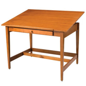 "Natural Birch Veneer Drawing Table 48"" x 36"", A11123"