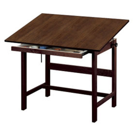 "Solid Oak Drafting Table 48"", A11122"