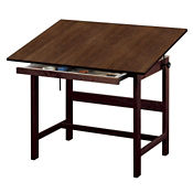 """Solid Oak Drafting Table 48"""", A11122"""