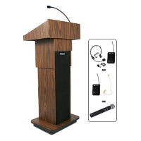 Wireless Executive Adjustable Height Lectern, M13109