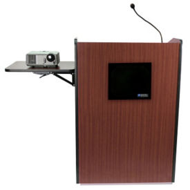 Wireless Multimedia Podium with Headset and Lapel Mic, M13170