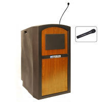 Wireless Sound Polyethylene Lectern with Handheld Mic, M13175