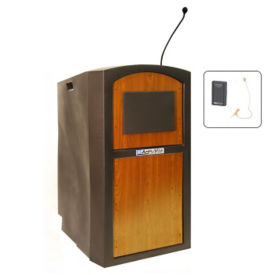 Wireless Sound Polyethylene Lectern with Ear Mic, M13176