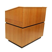 Solid Wood Non-Sound Lectern in Oak Finish, M13177