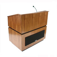 Solid Wood Wireless Mic Lectern, M13182