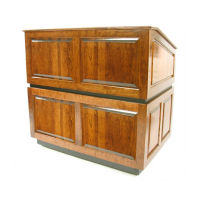 Ambassador Non Sound Lectern in Oak Finish, M13183