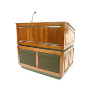Ambassador Wireless Lectern in Oak Finish, M13187