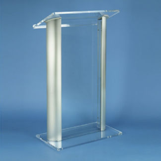 Acyrlic Lectern with Aluminum Accents, M13203