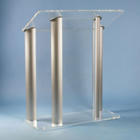 Four Post Aluminum and Acrylic Lectern, M13206