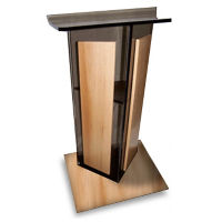 Modern Acrylic and Wood Lectern, M13211