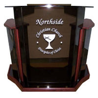 Deluxe Acrylic Lectern, M13212