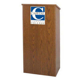 "Customizable Logo Lectern - 46-1/2""H, M16321"