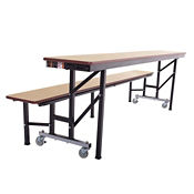 Convertible Table Bench with Dynarock Edging- 7'W, T11531